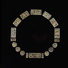 Set Of Jade Belt Plaques鏤雕 玉人獅子紋带牌匾