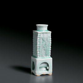 A Rare Yingqing Cong-Form Vase  影青釉印琮形瓷瓶